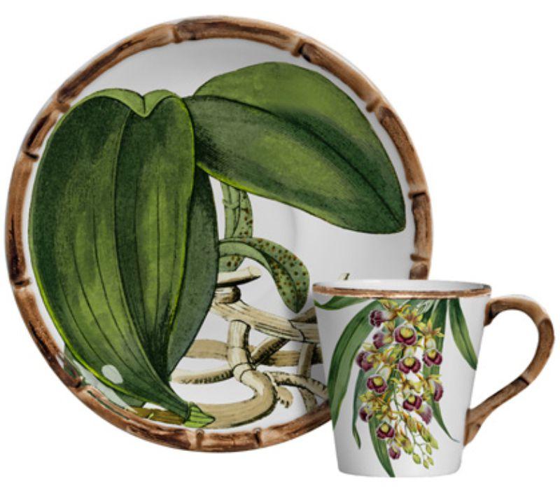 Xícara p/ Café Orquídeas (6 Unidades)