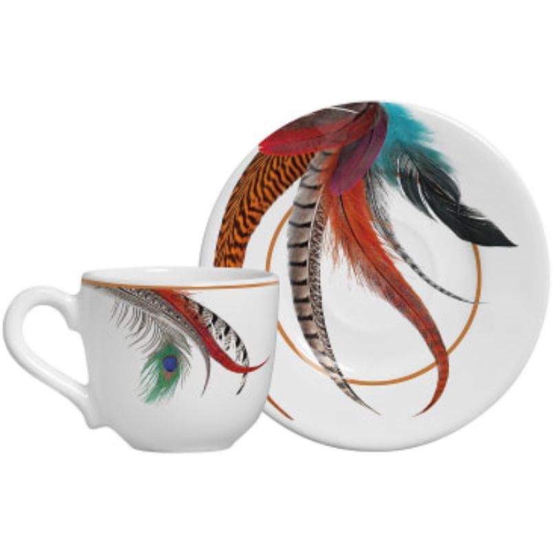 Xícara p/ Café Plumes (6 Unidades)