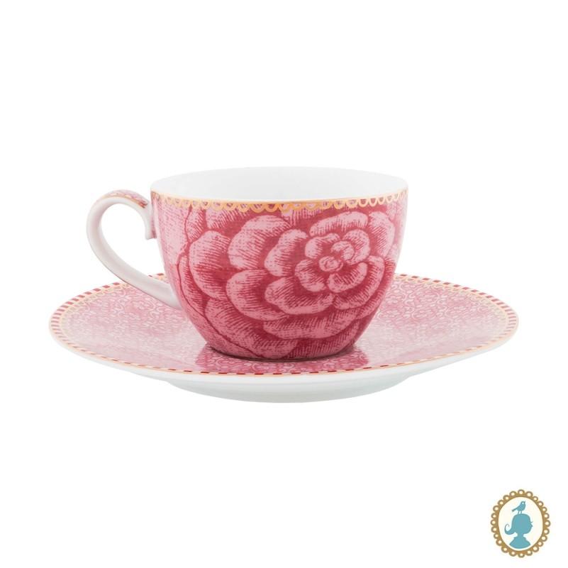 Xícara de Cafezinho 80ml Rosa - Spring to Life