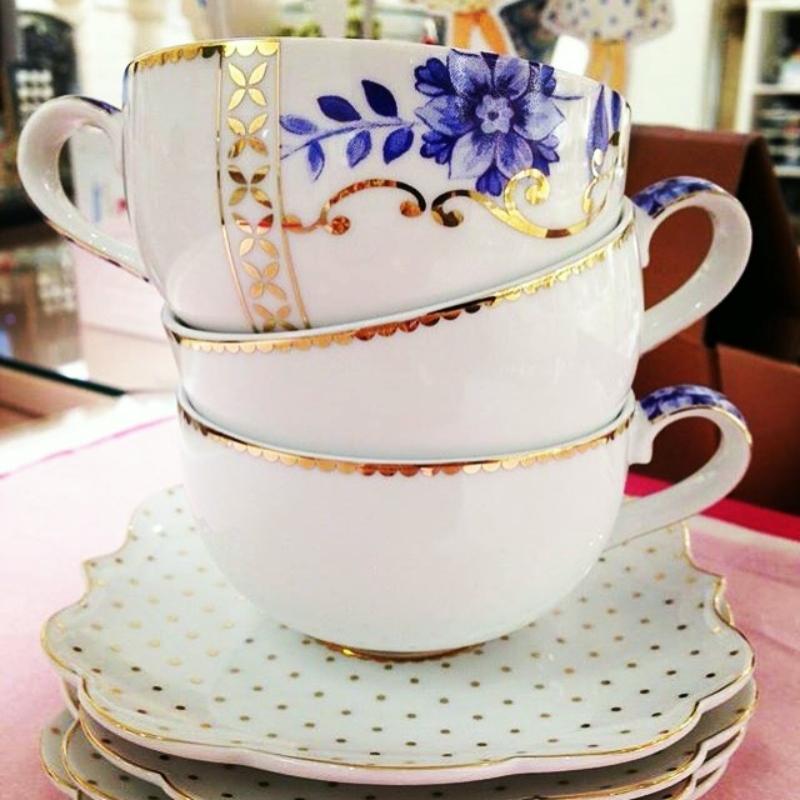 Xícara de Cafezinho c/ Pires - Royal White