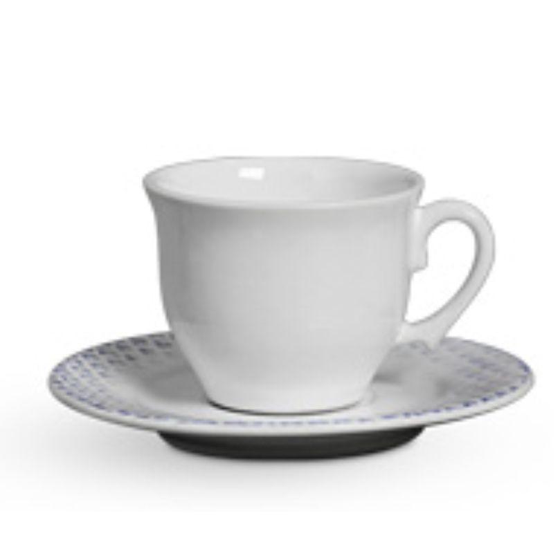 Xícara p/ Chá Abacaxi Azul (6 Unidades)