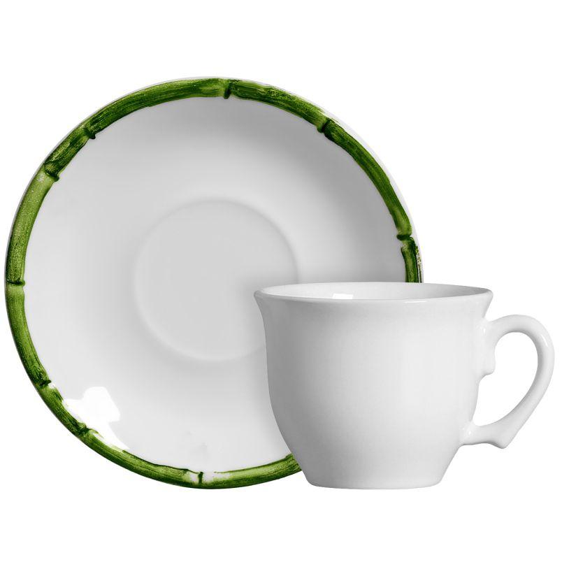 Xícara p/ Chá Bambu Colorido Verde (6 Unidades)