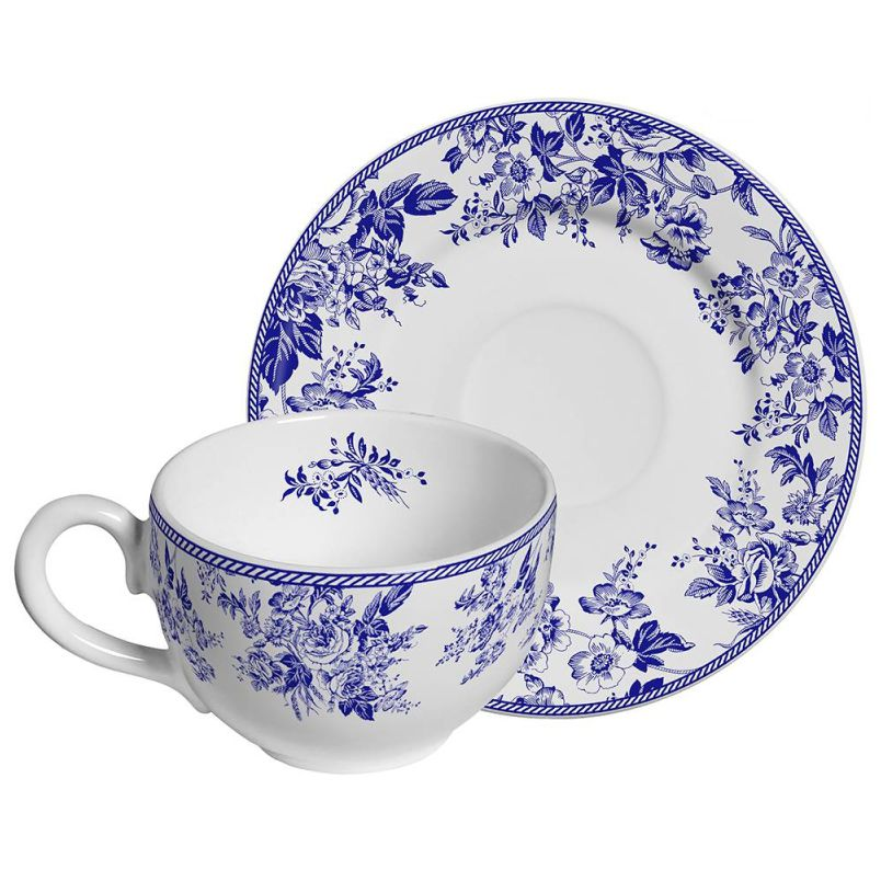 Xícara p/ Chá Blue Garden (6 Unidades)