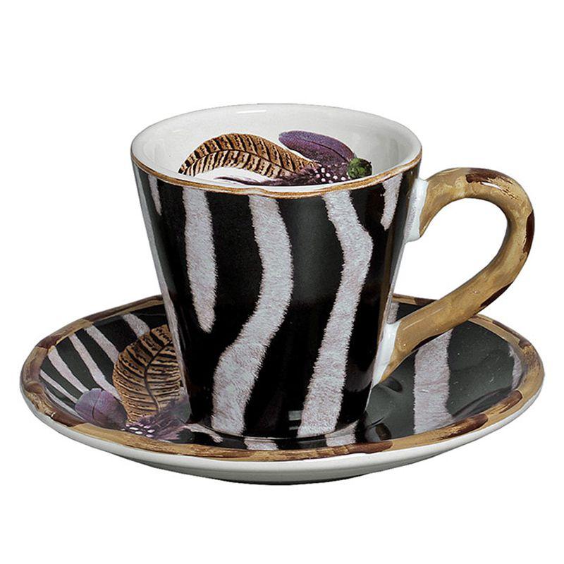Xícara de Chá c/ Pires Durban (06 Unidades) - MB