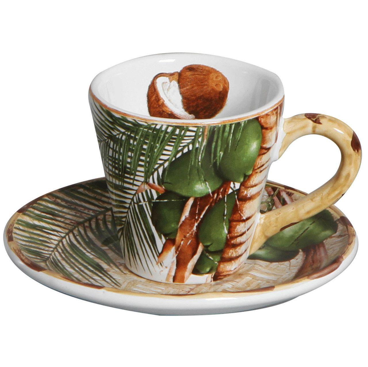 Xícara de Chá c/ Pires Itacaré (06 Unidades)  - MB