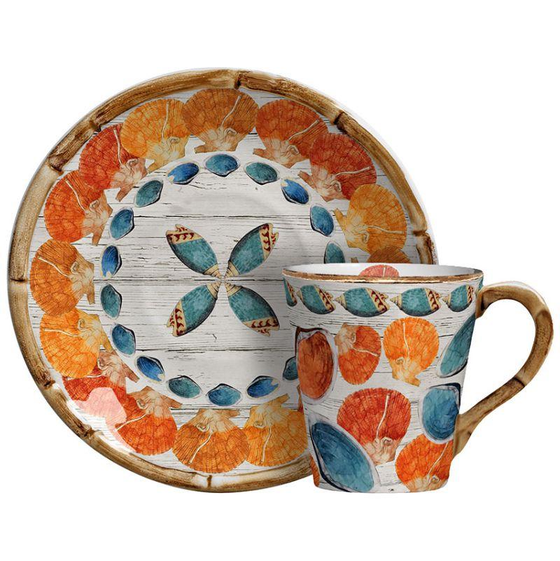 Xícara de Chá c/ Pires Mustique (06 Unidades) - MB