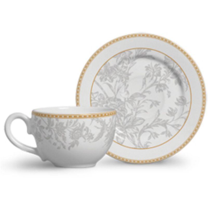 Xícara p/ Chá Caroline (6 Unidades)