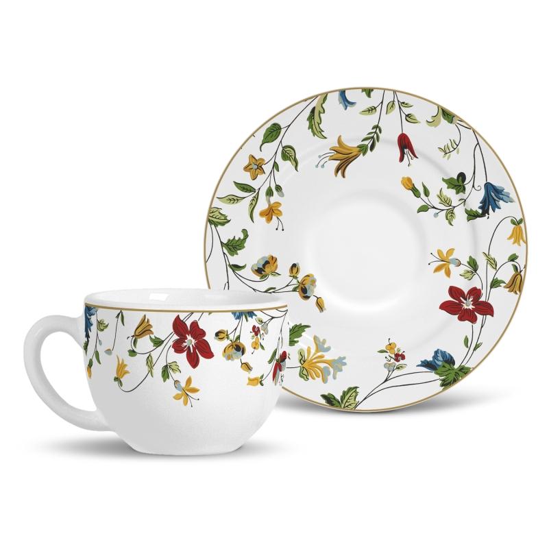 Xícara de Chá com Pires Astúrias (6 Unidades)