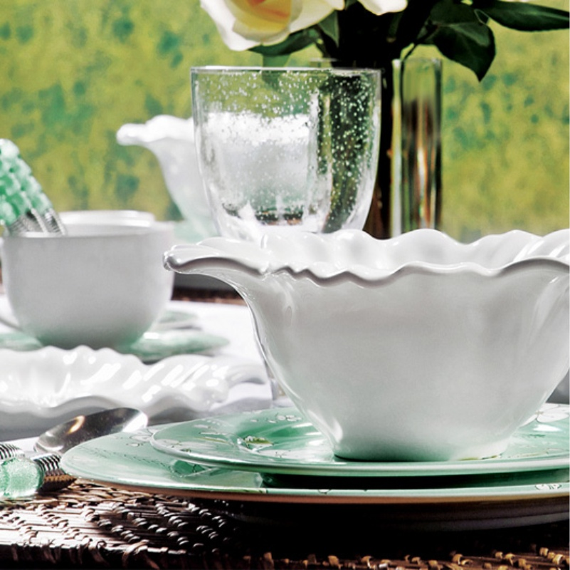 Xícara p/ Chá com Pires Campestre (6 Unidades)