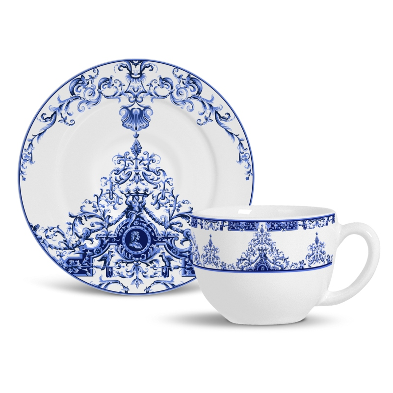 Xícara de Chá com Pires Lisboa (6 Unidades)