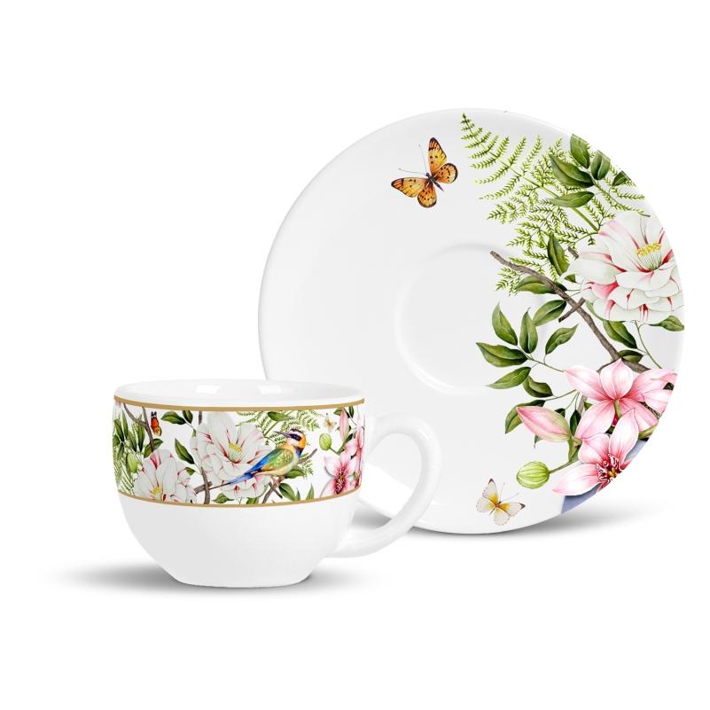 Xícara de Chá com Pires Revoada (6 Unidades)