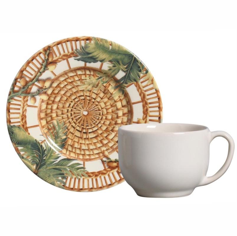 Xícara p/ Chá Vime (6 Unidades)