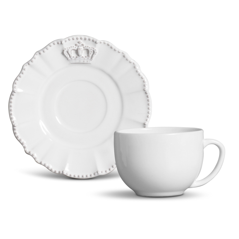 Xícara p/ Chá Windsor Branco (6 Unidades)