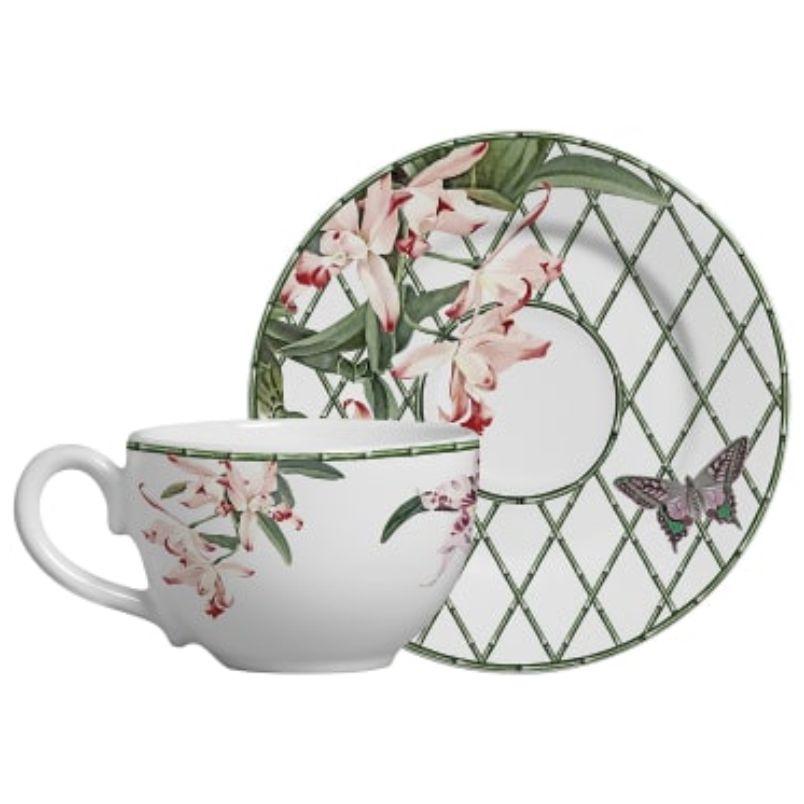 Xícara p/ Chá Orquídea Concept (6 Unidades)