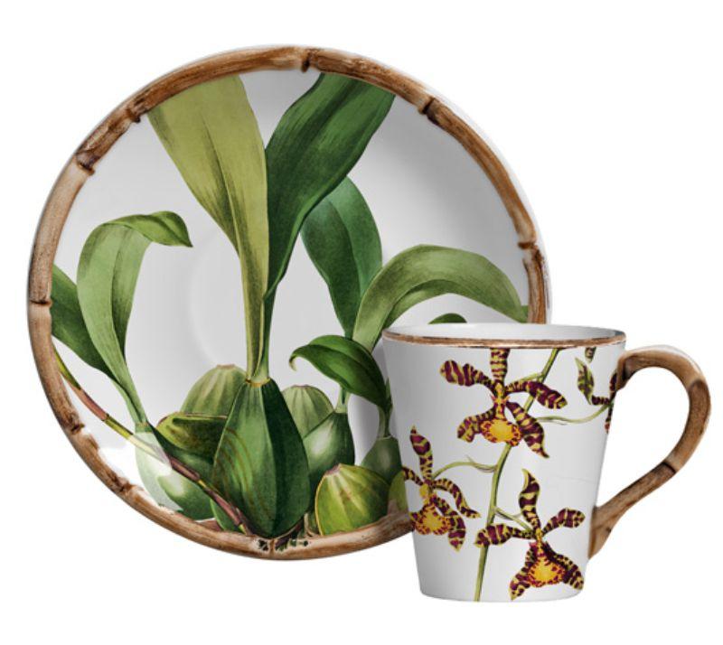 Xícara p/ Chá Orquídeas (6 Unidades)