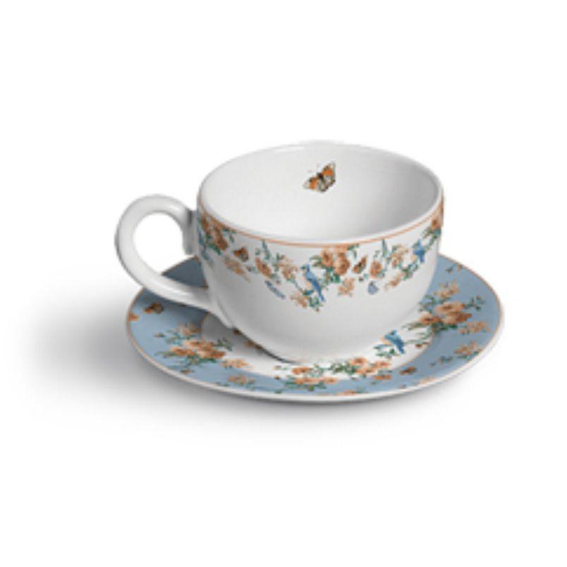 Xícara p/ Chá Peonies (6 Unidades)