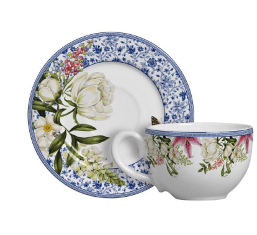 Xícara p/ Chá Pot de Fleur (6 Unidades)