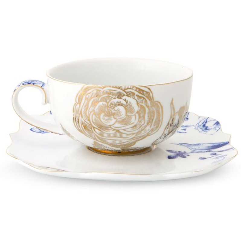 Xícara de Chá c/ Pires - Royal White