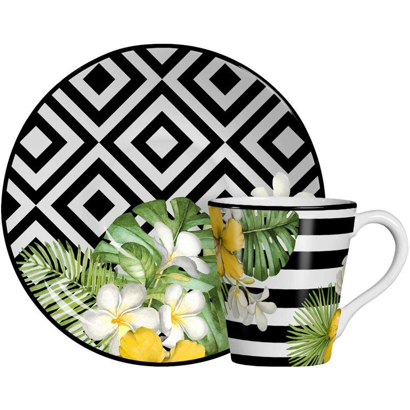 Xícara p/ Chá Tropicalha (6 Unidades)