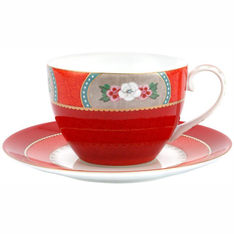 Xícara de Chá Vermelho - Blushing Birds - Pip Studio