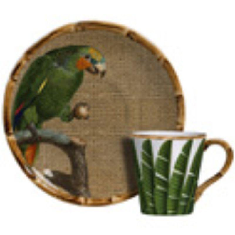 Xícara p/ Café Aves do Brasil (06 Unidades) Cód.: 8251 - MB