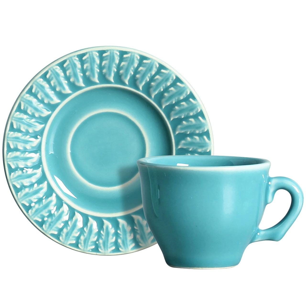 Xícara p/ Café Panache 2 Azul (06 Unidades)