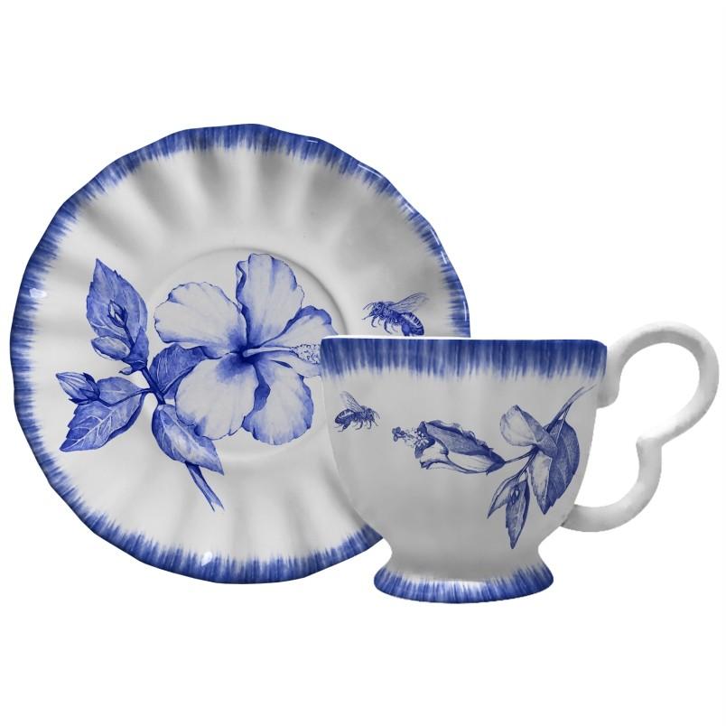 Xícara p/ Chá Demoiselle (6 Unidades)