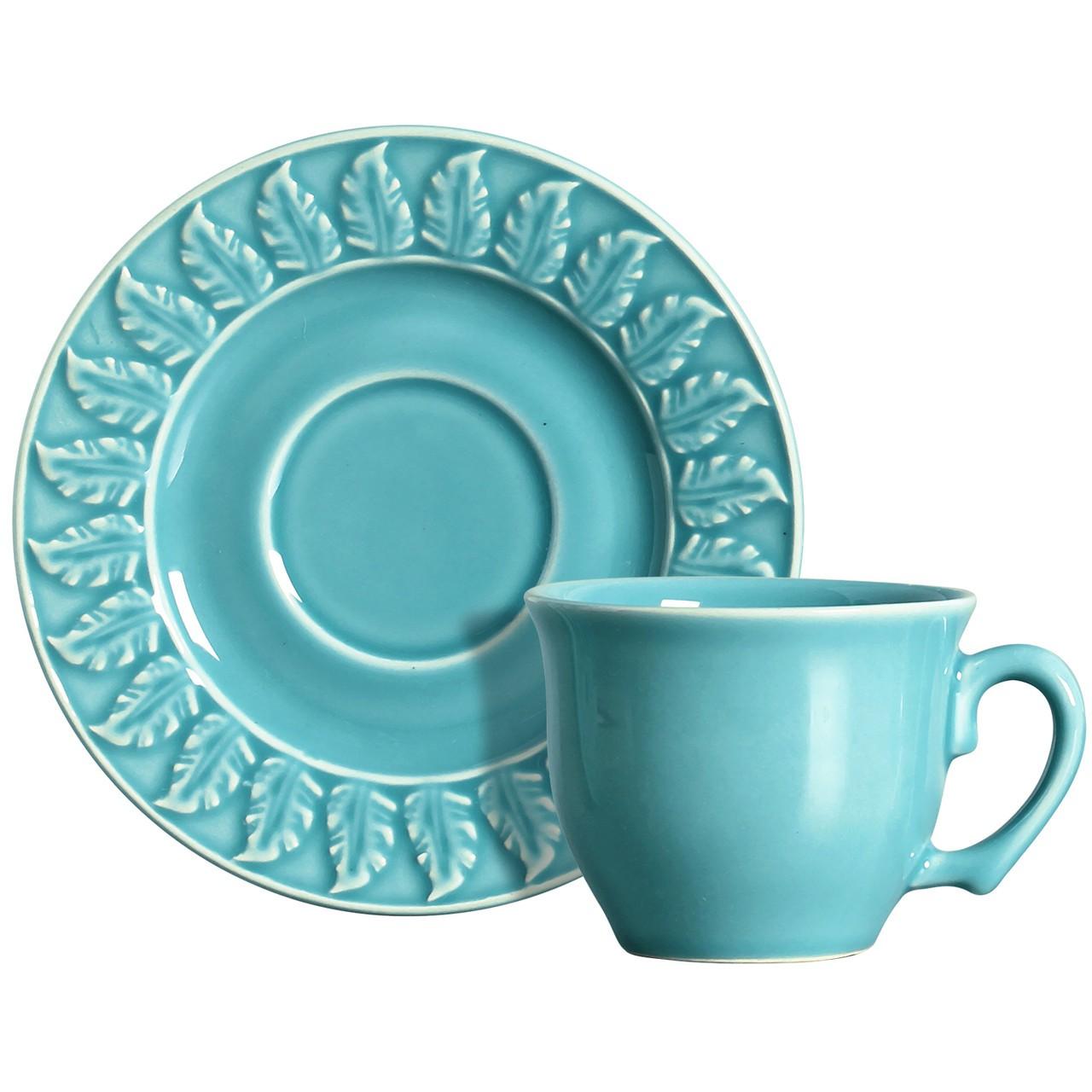 Xícara p/ Chá Panache 2 Azul (06 Unidades)