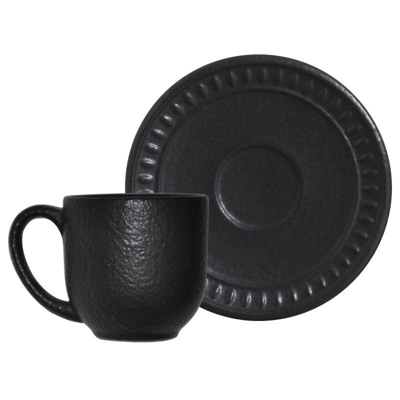 Xícara p/ Chá Pietra Nera (6 Unidades)