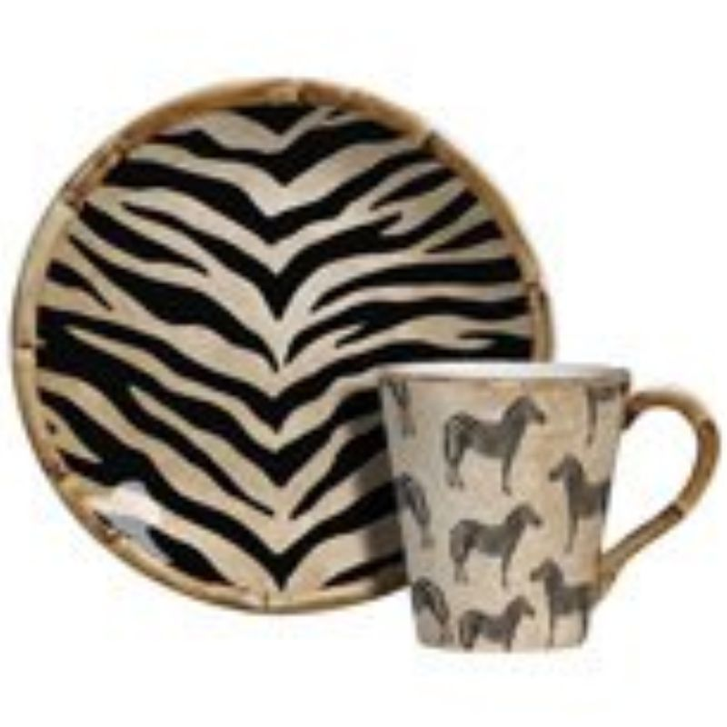 Xícara p/ Chá Zebra (6 Unidades)