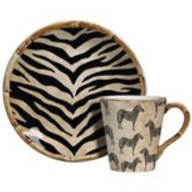 Xícara p/ Chá Zebra (06 Unidades)