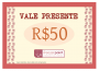 Vale Presente R$50,00 (Cinquenta Reais) - FREEZER POINT