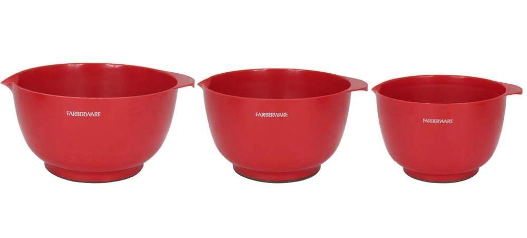 Conjunto de bowls 3 peças vermelho Farberware