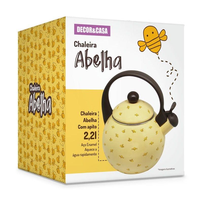 Chaleira abelha com apito DECOR E CASA