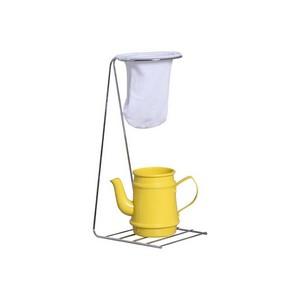 Coador de Café de Pano e Bule Amarelo