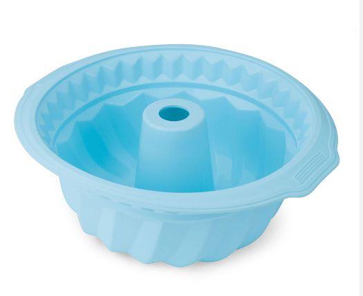 Forma de Bolo de Silicone Azul HAUSKRAFT