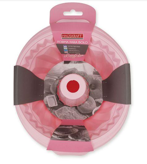 Forma de Bolo de Silicone Rosa HAUSKRAFT