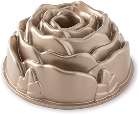 Forma Para Bolo Flor Rosa de Alumínio Fundido