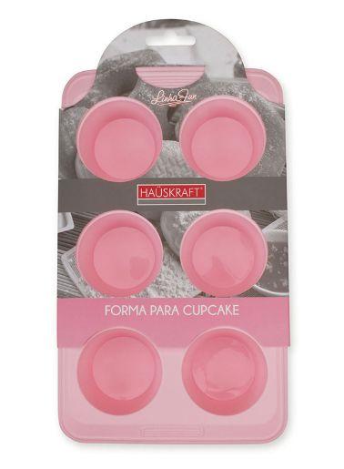 Forma para Cupcake de Silicone Rosa HAUSKRAFT