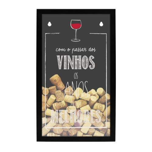 Porta Rolhas Vinho tipo Quadro