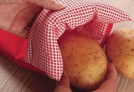 Saco para cozinhar batatas no micro ondas