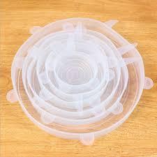 Tampas de Silicone Flexíveis Reutilizáveis com 6