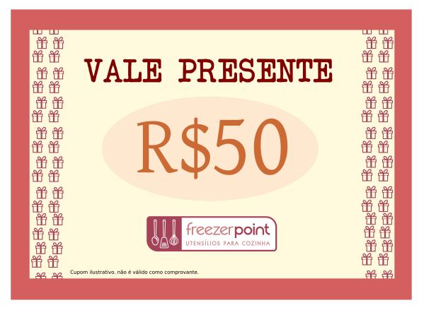 Vale Presente R$50,00 (Cinquenta Reais)