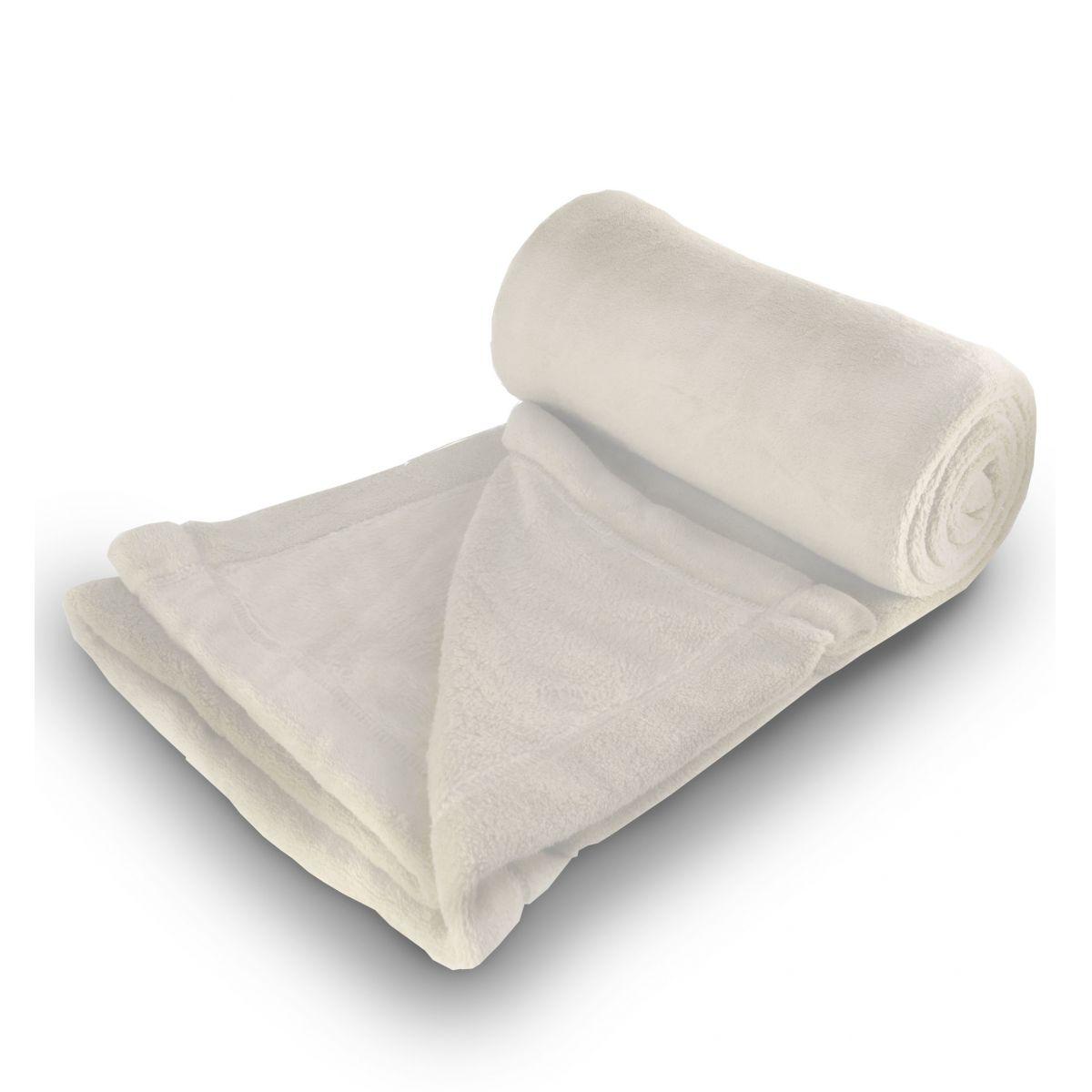 Cobertor de Microfibra Queen - Marfim