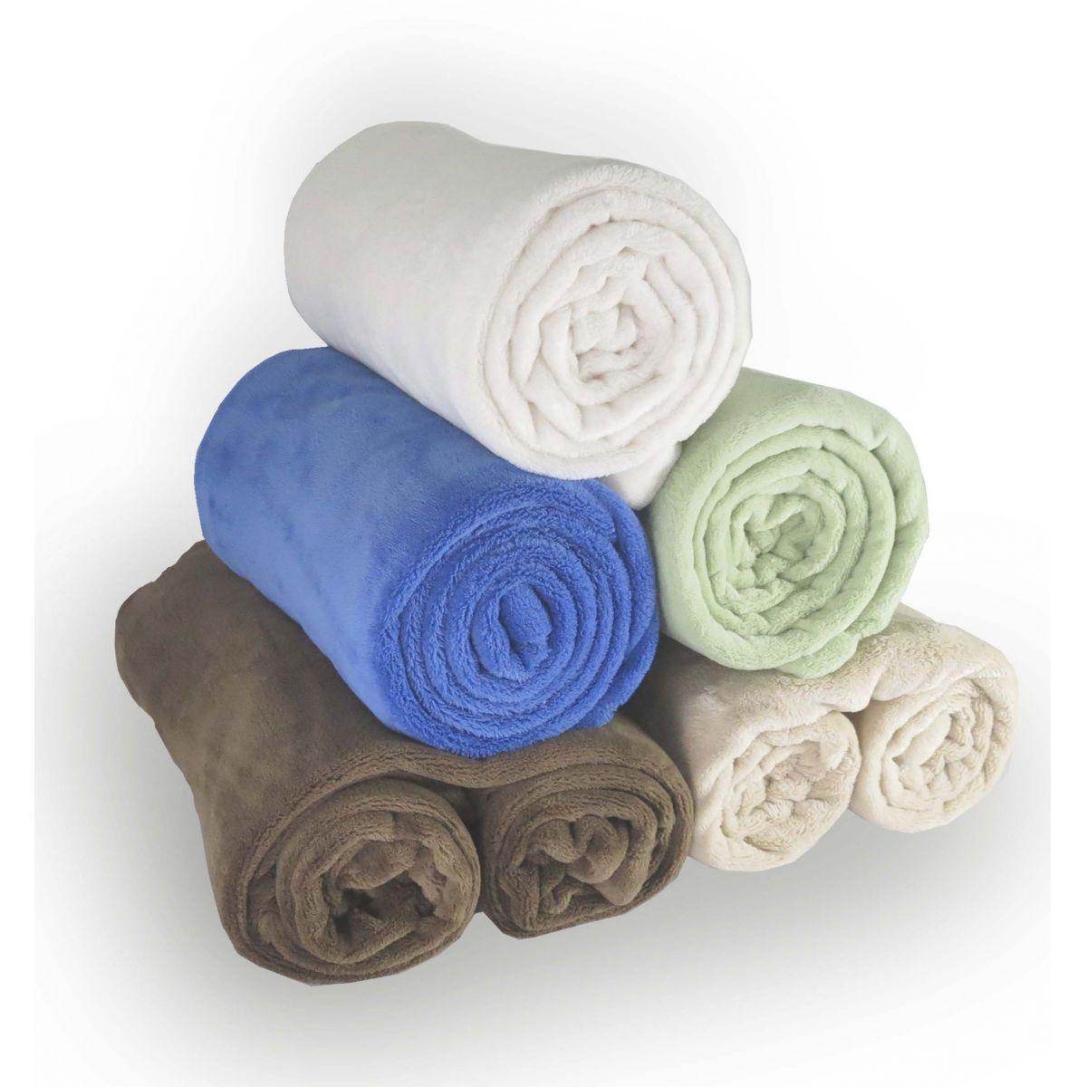 Cobertor de microfibra Solteiro - Marfim