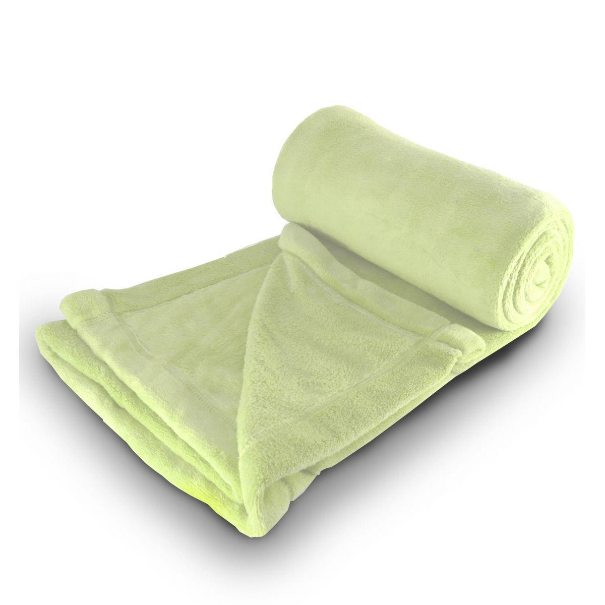 Cobertor de microfibra Solteiro - Verde