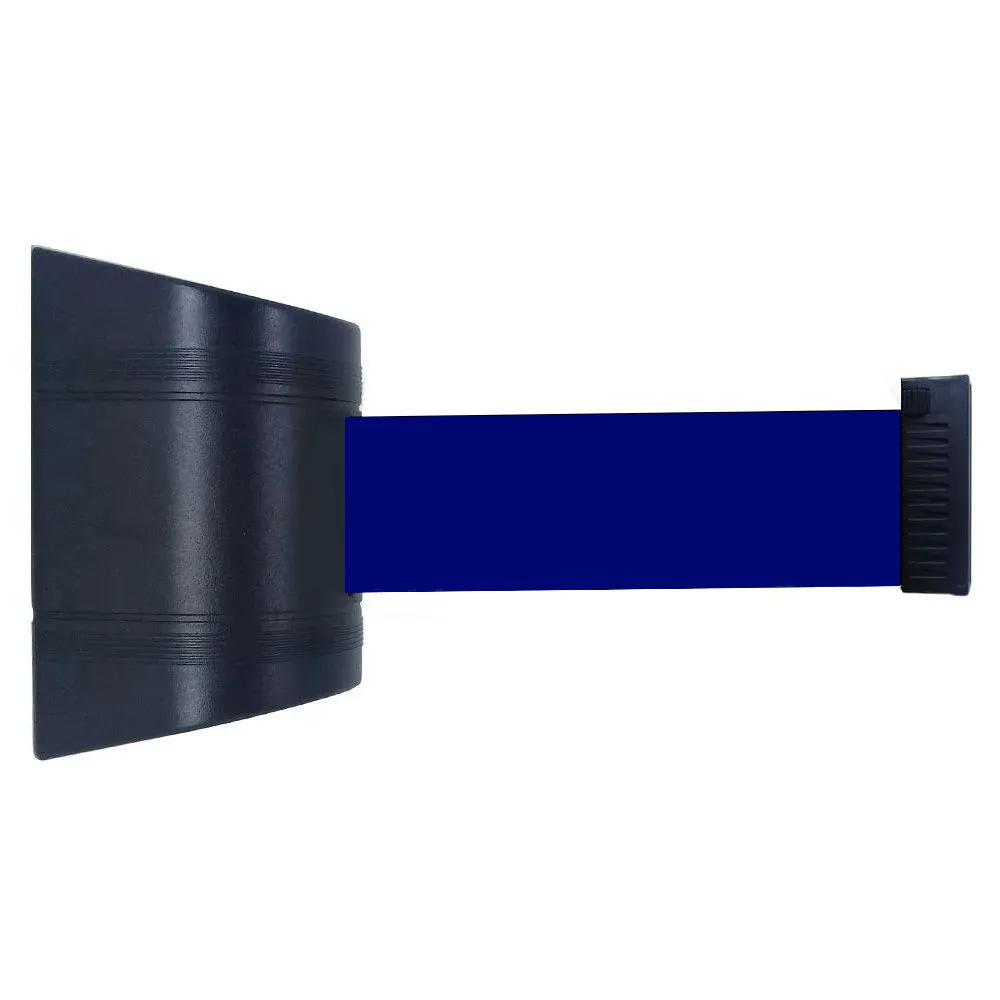 Cassete para Fixação na Parede com Fita Retrátil de 2 Metros de Comprimento na cor Azul