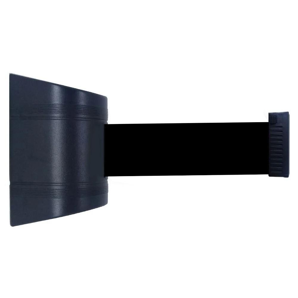Cassete para Fixação na Parede com Fita Retrátil de 2 Metros de Comprimento na cor Preta