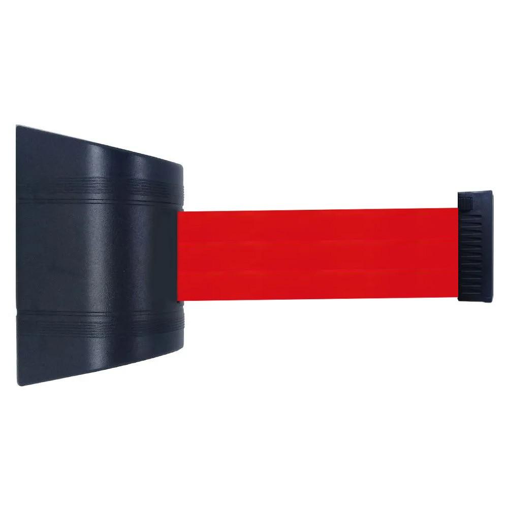 Cassete para Fixação na Parede com Fita Retrátil de 2 Metros de Comprimento na cor Vermelha