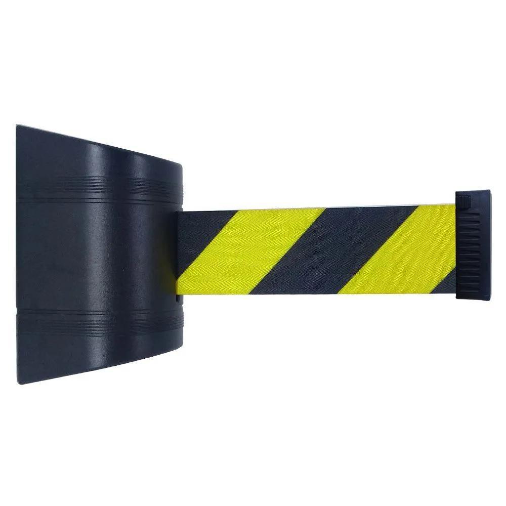 Cassete para Fixação na Parede com Fita Retrátil de 2 Metros de Comprimento na cor Zebrada